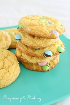 Couponing & Cooking: Easter Cake Mix Cookies With Cheesecake Filling