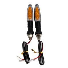 2 pz Indicatore di Segnale Indicatori di Direzione per Moto Bullet LED Amber Turn Signal Lamp Silver