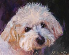 Custom Pet Portrait, Dog Oil Painting, Original Art by MovchunArtStudio Custom Dog Portraits, Pet Portraits, White Dogs, Pet Memorials, Art Plastique, Animal Paintings, Dog Art, Artist, Photos