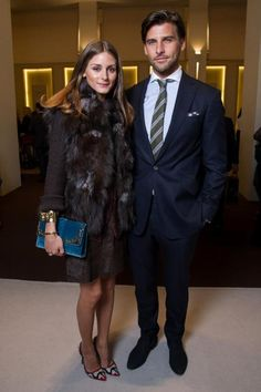 THE OLIVIA PALERMO LOOKBOOK: Olivia Palermo and Johannes Huebl at the launch of Montblanc's new watch collection at SIHH 2013 in Geneva, Switzerland.