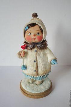 Коллекционные куклы ручной работы. Ярмарка Мастеров - ручная работа. Купить Повтор куклы Варя. Handmade. Кукла ручной работы Polymer Clay Dolls, Polymer Clay Miniatures, Paper Mache Clay, Cotton Crafts, Christmas Tree Toy, Clay Figurine, Tiny Dolls, Paperclay, Christen