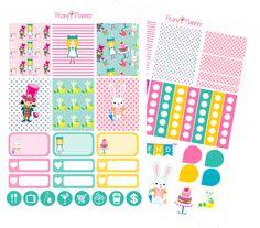 Alice in Wonderland Weekly Kit Planner Stickers | Erin Condren, Kikki K, InkWell, Plum Planner, Scrapbook by PeonyPlanner on Etsy