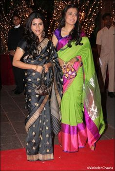 I liked both the saris but Mini Mathur's is more interesting