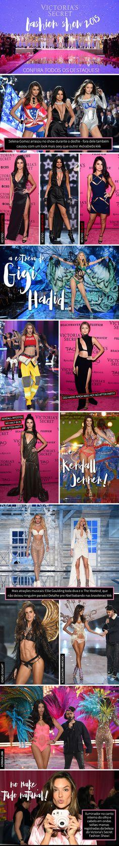 Victoria's Secret Fashion Show 2015: os looks e lingeries de Alessandra Ambrosio, Gigi Hadid, Kendall Jenner, Adriana Lima e mais Angels!