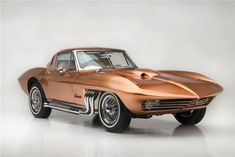 "1963 ""Asteroid"" Corvette: Customized by George Barris for boat racer Bob Nordskog with a shimmering copper paint job and one-off interior."