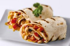 Grilled BBQ Chicken Wraps — Shredded Cheddar and a blend of BBQ sauce and zesty Italian dressing give this recipe its great flavor. Serve with a mixed green salad for a quick and easy, weekd (Zesty Italian Chicken) Kraft Foods, Kraft Recipes, Grilled Chicken Wraps, Chicken Wrap Recipes, Barbecued Chicken, Chicken Ideas, Turkey Recipes, Grilling Recipes, Cooking Recipes