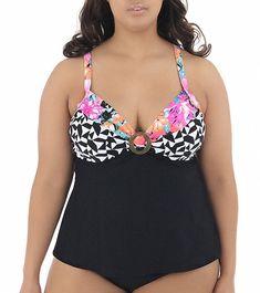 3ff4e9f55b9b9 Coco Reef Maui Mix Plus Size Signature Twist Tankini Top