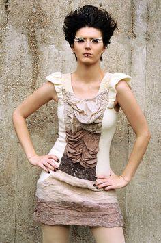 Cette robe est magnifique!!! Ecofriendly Dress organic merino wool felt and ombre par texturable, $490.00
