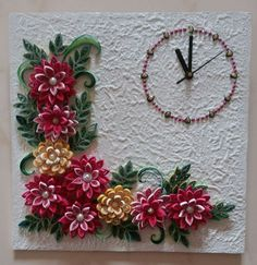 Quilled Wall Clock.