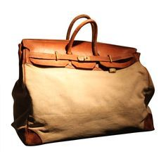 View this item and discover similar for sale at - This is the famous HAC HERMES travel bag. we had the bag reinforced to ensure many years of use Hermes Bags, Hermes Handbags, Hermes Men, Designer Handbags, Vintage Bags, Vintage Handbags, Hermes Vintage, Vintage Ideas, Vintage Travel