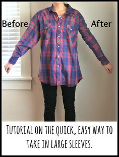 "Tutorial on how to take in sleeves quickly and easily | plus several other practical ""fixes"" for everyday clothing issues"
