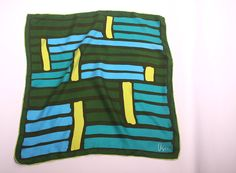 Vintage Vera Scarf // 1960s Vera Neumann Silk by DigsnThreads