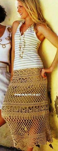 Pretty crochet skirt