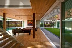 Double Patio at Six Ramsgate House in Singapore by Wallflower Architecture + Design