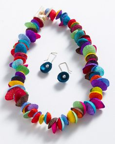 Silk Cocoon Necklace/Earrings Set, Sets, Jewelry - The Museum Shop of The Art Institute of Chicago