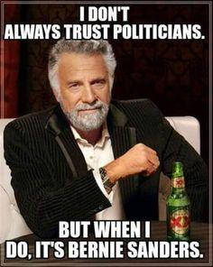 Funny Bernie Sanders Memes: I Don't Always Trust Politicians