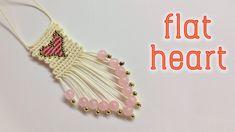 Macrame key chain tutorial: The flat heart - Hướng dẫn làm móc khóa hình trais tim