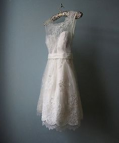 Noble Short High Neck Beach White/Ivory Wedding Dresses Evening Bridesmaid Gowns in Clothing, Shoes & Accessories, Clothing, Shoes & Accessories   eBay