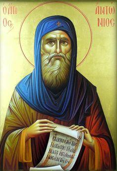 Religious Icons, Religious Art, Saint Antonio, Greek Icons, Byzantine Icons, Orthodox Icons, Images, Faith, Artwork