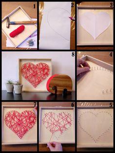 Eenvoudig valentijn schilderij om zelf te maken inclusief uitgebreide werkbeschrijving