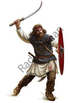 Dacian warrior. Illustration for a article from Histoire&Guerre. Inspirational attitude by Marius Barbu...