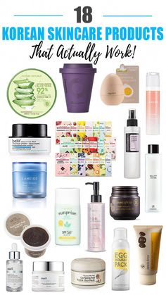 18 Best Korean Skincare Products That Actually Work ⋆ Beauty Nerd By Night - - Korean skincare products are all the rage, and for good reason! Check out my roundup of the 18 Best Korean Skincare Products That Actually Work! Beauty Care, Diy Beauty, Beauty Skin, Beauty Hacks, Homemade Beauty, Face Beauty, Beauty Makeup, Drugstore Beauty, Eye Makeup