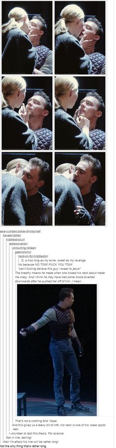 Tom Hiddleston's weak spots for kissing... and that is NOT a fold in his trousers...