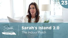 Sarah Richardson Design creates beautiful and happy homes for our clients. Porch Wall, Front Porch, Interior Design Videos, Island 2, Sarah Richardson, Victorian Farmhouse, Ski Season, Progress Report, Life Video