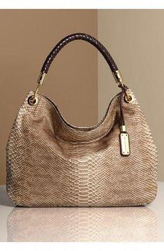 58f0354a3 Michael Kors + Snakeskin = Handbag Perfection #Handbagsmichaelkors