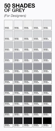 The true 50 Shades of Grey. For designers.