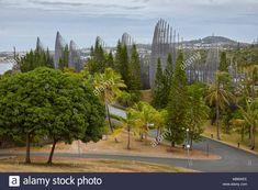 Jean-Marie Tjibaou Cultural Centre in Noumea, New Caledonia - Stock Image