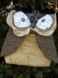 Owl Purse Hobo Bag Shoulder Bag made with tan and by lvcreativity, $45.00