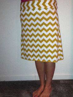 Mustard yellow chevron maxi skirt   Clothing I've made   Pinterest