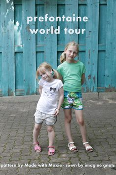 imagine gnats: prefontaine world tour. I think these shorts would work for boys too - sort of like Umbros...