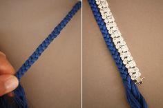 DIY Braided Rhinestone Bracelet