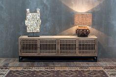 mueble televisión madera vical