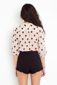 romantic Ikat Heart Blouse - Blush