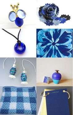 Blue Baby! Royal Blue housewares and fashion items all around Etsy --Pinned with TreasuryPin.com