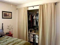 Curtains As Closet Doors In Master Bedroom