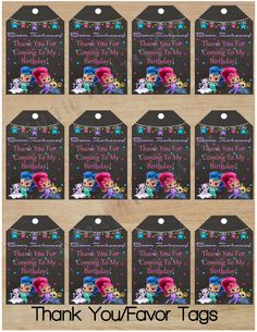 Instant Download|Shimmer and Shine|Thank You Tag|Favor Tags|Shimmer and Shine Birthday|Shimmer and Shine Party|Shimmer & Shine|Shimmer|Shine by SisterlydesignsShop on Etsy