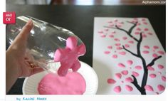 Cherry Blossoms from a recycled soda bottle by Rachel Meeks
