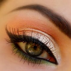 Beautiful Look for Brown & Hazel Eyes - Use White Sparkle, Apricot & Dragon Eyeshadows with Black Liner... gracemyfaceminerals.co