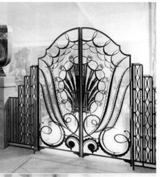 french deco...i love this gate/doors...