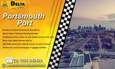 Get to Portsmouth ferry port in double quick time and without the hassle by pre-booking your taxi transfer to this busy ferry terminal. Call us for more details. London Airports, River Thames, North Sea, Car Cleaning, Portsmouth, Taxi