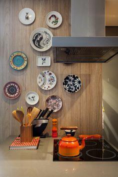 Pratos decorativos de parede.