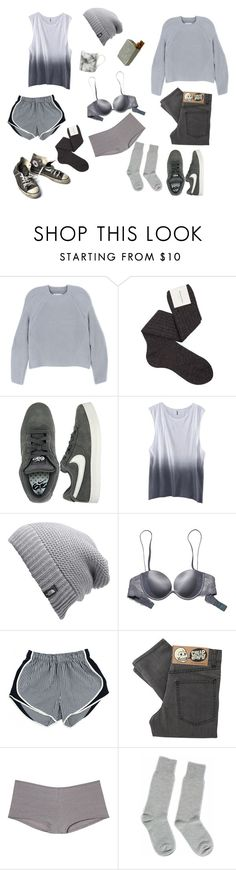 """""""...&...."""" by ocblues ❤ liked on Polyvore featuring Maison Margiela, Maria La Rosa, NIKE, H&M, The North Face, Victoria's Secret, Cheap Monday, Equipment, Gary Birks Design and Converse"""