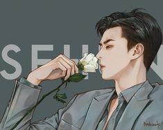 Chibi, Exo Fan Art, Kpop Fanart, Location History, Instagram Sehun, Fictional Characters, Snow, Twitter, Funny
