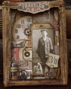 The Little Shabby Shed: Distressed Vintage Grunge Tag inspired by Tim Holtz.