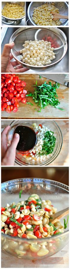 Caprese Pasta Salad - this would be good with tortilini And a balsamic glaze joysama images
