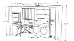 Bathroom, Amusing Design A Laundry Room Layout With Cabinet Storage Also Dryer Machine View: Inspiring Laundry Room Layout With Small Space Designs Laundry Room Layouts, Laundry Room Organization, Laundry Room Design, Laundry Rooms, Laundry Area, Mud Rooms, Craft Room Design, 3d Warehouse, Small Laundry